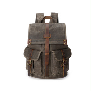 Casual Waterproof Backpack Retro Large Capacity Bag Backpack Travel Bag Vintage Bag レトロ カジュアル バックパック リュック ビンテージ 防水 (YYB0-1547663)