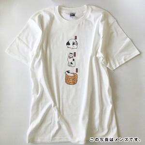 浮世絵ドット絵「ねこ」Tシャツ(白/メンズ/レディース/キッズ)(order made T-shirt)