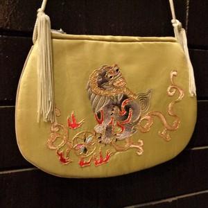 Oriental embroidery mini bag オリエンタル刺繍ショルダーミニバッグ