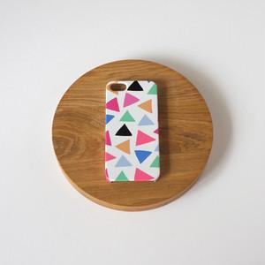 cheerful triangle ( pink ) ハードケース型スマホケース【受注生産】★ Lサイズは+400円