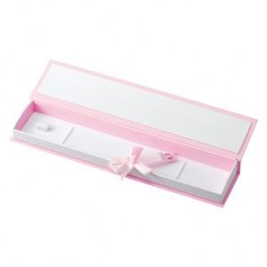 アクセサリー紙箱ネックレス ブック式ワンタッチラッピングリボン付き 20個入り BS-303-N