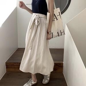 リラックスリボンスカート U4045