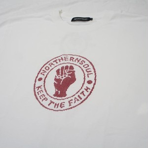 ノーザンソウル KEEP THE FAITH Tシャツ  WHITE
