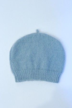 "MIND THE HAT ""Mohair Shaggy Cap ""(sax blue)"
