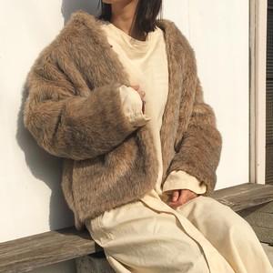 "USED "" eco fur airy coat   """