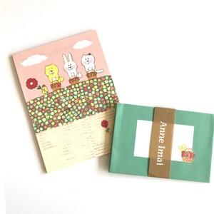 Anne Imai ミニレターセット / カゴいっぱいの花摘み