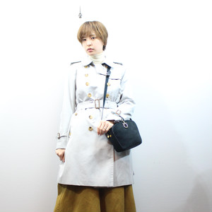 .Aquascutum BELTED TRENCH COAT WITH WOOL LINER MADE IN JAPAN/アクアスキュータムウールライナー付トレンチコート 2000000030111