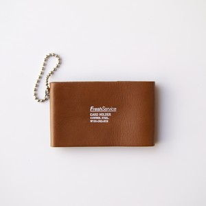 FreshService / LEATHER CARD CASE[KHAKI / BROWN]