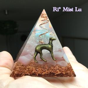 【K様オーダー】リバティくん入りピラミッドオルゴナイト