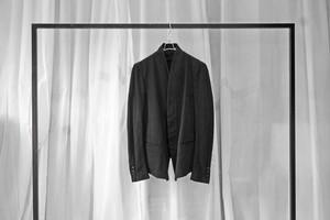 masnada / Flat collar jacket / BLK