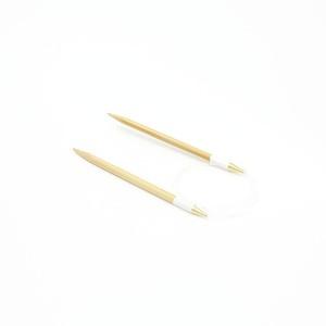 【竹製硬質】輪針 (コード長さ100cm 10mm)