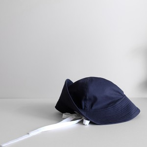 テントな帽子 【Cotton hat】-White to navy-
