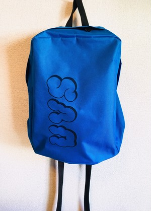 new!!!!! URBAN VOLCANO SOUNDSモコモコUVSロゴ BACKPACK /BLUE