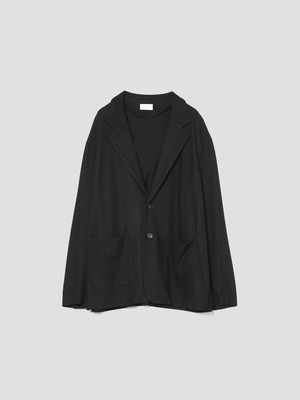 UNDECORATED S140 WOOL KNIT JKT Black UDF21502