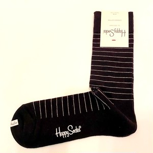 Thin Stripe Sock Black