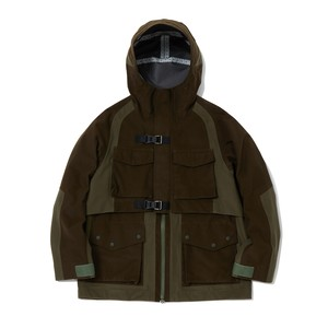 GORE-TEX PACLITE MIXED MOUNTAIN PARKA - KHAKI
