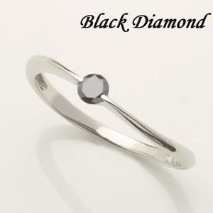 (wing)1粒ブラックダイヤモンド K18WG