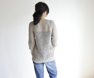 summer sweater(s) beige / サマーセーター(s) ベージュ