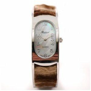フェイクファー の バングルウォッチ アニマル レディース 腕時計