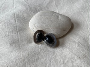 <vintage silver925>mexican onyx earrings