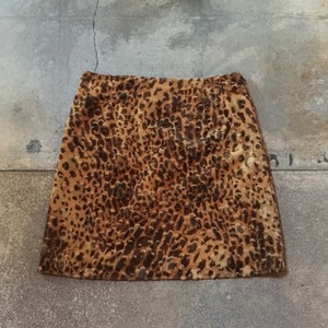 Leopard Pattern Skirt / USA