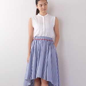 Lawn Skirt / BLUE STRIPE