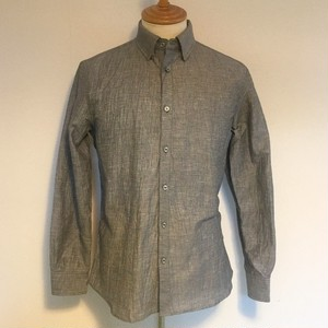 Striped Crepe & Tattersall Shirts Gray
