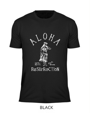 [MAN] ALOHA RESURRECTION TEE -BLACK-