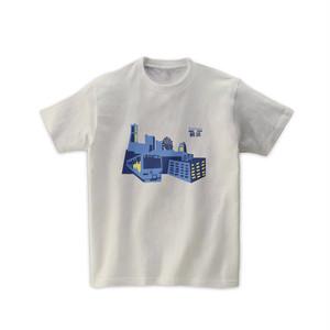【即納】電車Tシャツ-みなとみらい線と横浜の景色(シルバーグレー)