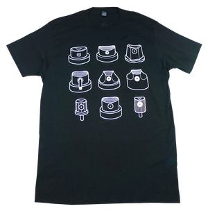 Graffiti spray can nozzle caps TEE(LOW BROW)
