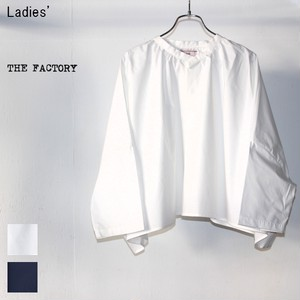THE FACTORY ポンチョ風ブラウス TF17AW-0105 (WHITE)