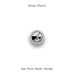 Silver Pierce / Round Skull Design 001