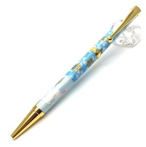 美濃和紙Pen  うさぎ市松bl  TM-1600