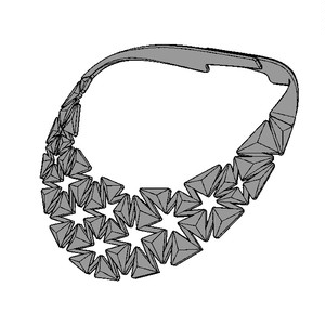Auxetic pattern Neckless_Black