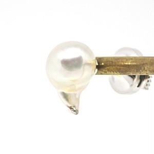 9.5㎜(長さ約15.5㎜)!あこや真珠の人魚のタイタックI  ピンズ ピンバッチ
