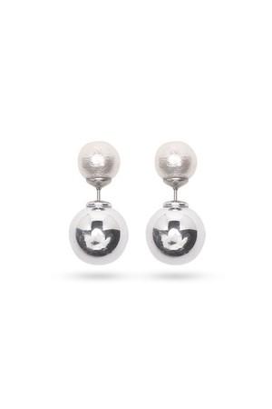 Pearl Catch Earrings   SILVER