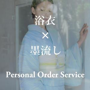 浴衣 × 墨流し Suminagashi for the one