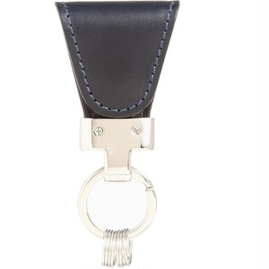 [Vintage Revival Productions] key clip oil leather キーケース 日本製 ネイビー