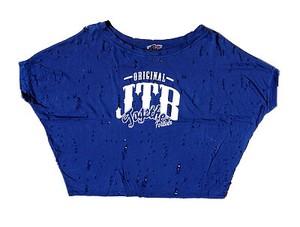 【JTB】DAMEGE SHORT トップス【ブルー】【再入荷】イタリアンウェア【送料無料】《M&W》