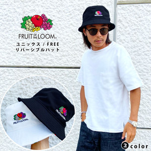 【FRUIT OF THE LOOM】リバーシブルバケットハット(2color) / 14573200 フルーツオブザルーム 帽子 HAT リバーシブル