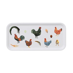 トレー 白樺 木製 32 x 15 KOUSTRUP & CO. - Chickens 鶏 ヒヨコ 卵 羽毛