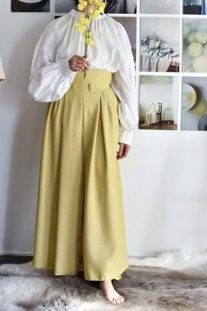AKIRAFURUKAWA highwaist wide pants yellow