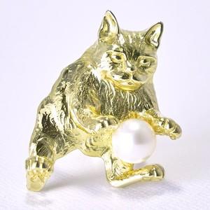 Morph The CAT×Pearl『BECKさまリング』ネコ×淡水パール