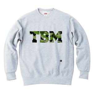 TSUBOMIN / CAMO TBM LOGO CREWNECK SWEAT ASH