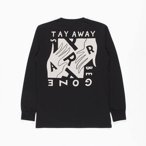 by Parra - long sleeve t-shirt stay away be gone (Black)