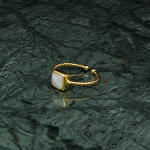 SINGLE MINI STONE RING GOLD 003