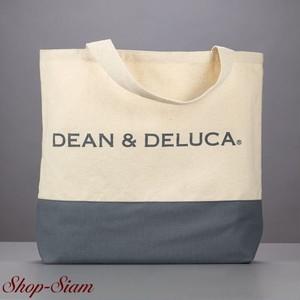DEAN & DELUCA/ディーンアンドデルーカ キャンバストートバッグ (カラーブロック・グレー)