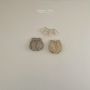 【予約販売】flowerーcheck bloomers【baby】〈aladin kids〉