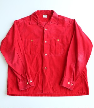 Vintage SEARS Corduroy Open collar shirts