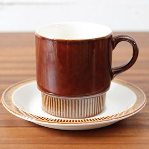 1960年~1970年代 イギリス Poole Pottery Compact Chestnut カップ&ソーサー プール チェスナット